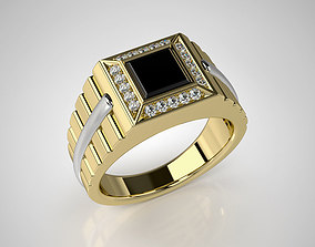 jewelry Mens ring model with black onyx 002