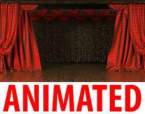 Theatrical Stage Curtains 3D
