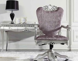 luxurious office armchair with decorations and wheels 3d model