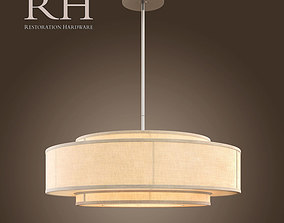 band THREE-TIER LINEN BANDED PENDANT 3D model