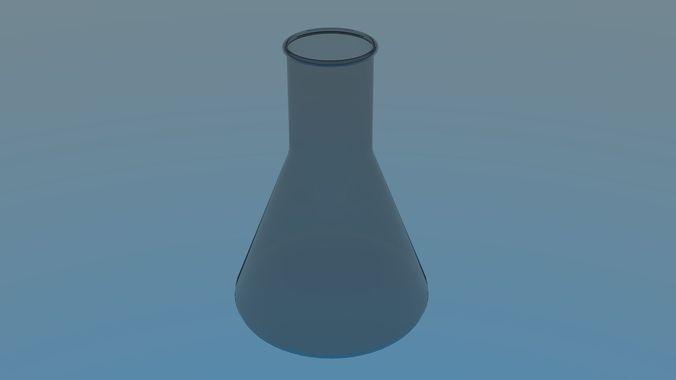 beaker 3d model obj mtl 3ds fbx stl blend dae 1