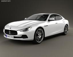 Maserati Ghibli III Q4 2013 3D Model