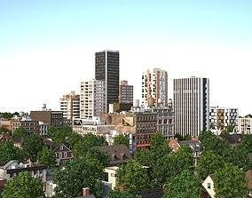 3D asset City with suburb