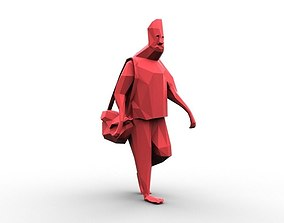 Low Poly People 01 3D asset