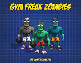 3D model Gym Freak Zombie