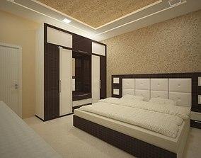 3D model Bedroom interior design by Vipin Verma
