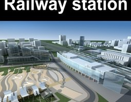 3d exquisite railway station