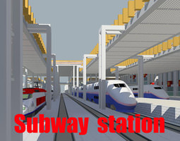 Modern Railway Station 3D
