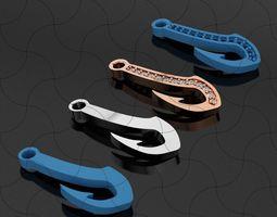 3D printable model Hook Bracelet Piece