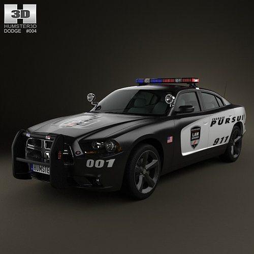 3D Model Dodge Charger Police 2011