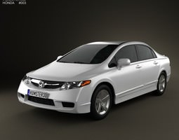 honda civic sedan 2009 3d