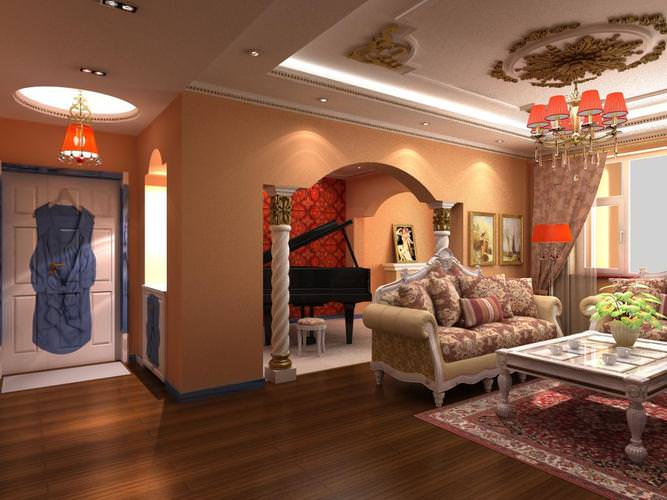 3d home drawing room with luxury furniture cgtrader for 3d bedroom drawing