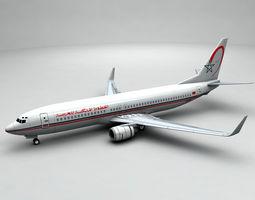 3D asset Boeing 737-800 NG Airliner - Royal Air Maroc