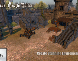 3d model medieval castle builder 1 0 low-poly