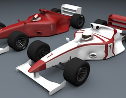 Formula 1 Car Type 3D Models circuit game-ready