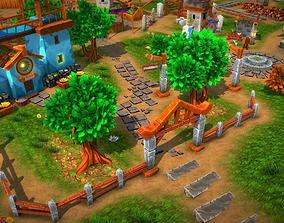 Fantasy Village and Tower Defense 3D model