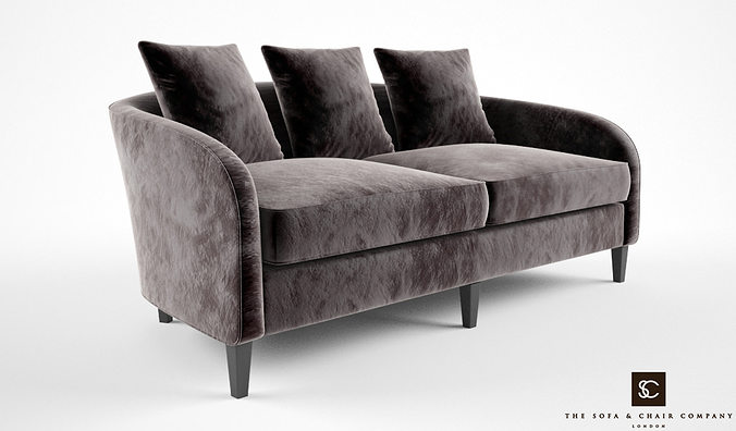 The sofa and chair company richmond sofa 3d model max obj fbx The sofa company