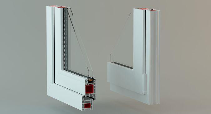 pvc window profile with lighting studio 3d model animated max 3ds fbx 1