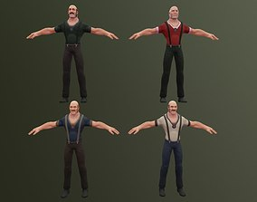 Toon - Strong Adventurer 02 3D asset