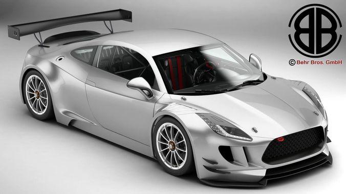 generic sports car gt3 3d model max obj mtl 3ds fbx c4d lwo lw lws 1