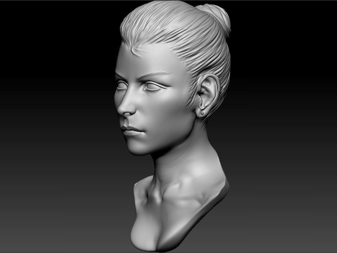 Female Head 39 3d Model Obj Ztl