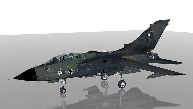 luftwaffe tornado ids military aircraft mfg2 squadron eggebek ab 3d model low-poly max obj mtl 3ds c4d lwo lw lws dxf 1