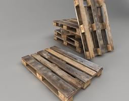 3D asset Old Pallet Low Poly