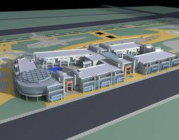 exquisite commercial building infrastructure 3d