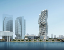 3d model multiple skyscrapers with exquisite designs