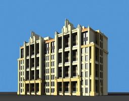 building with designer exterior 3d model