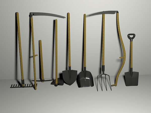 3d garden tools pack cgtrader On gardening tools 3d model