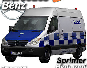 3D model Mercedes-Benz Sprinter Stobart