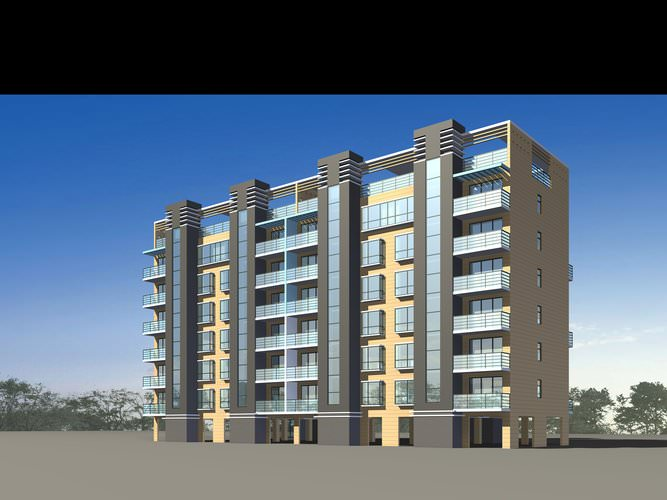 Residential apartments 3d model max 3ds for Apartment 3d model