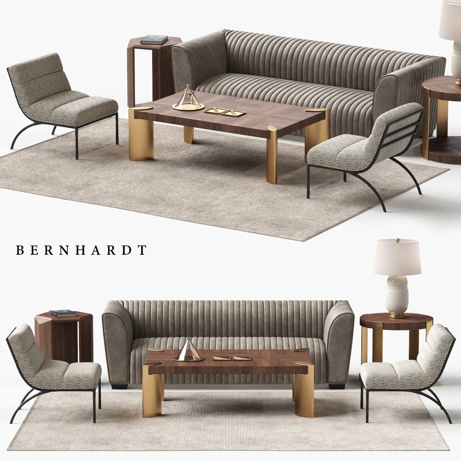 chair 3D model BERNHARDT Kent Sofa Set | CGTrader