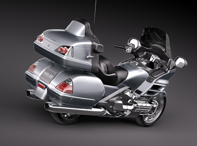 Honda Goldwing 3D Model MAX OBJ 3DS FBX C4D LWO LW LWS ...
