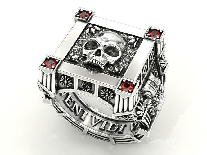 vampire skull ring many sizes 3d model stl 3dm 1