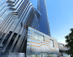 3d model building with exquisite designer exterior