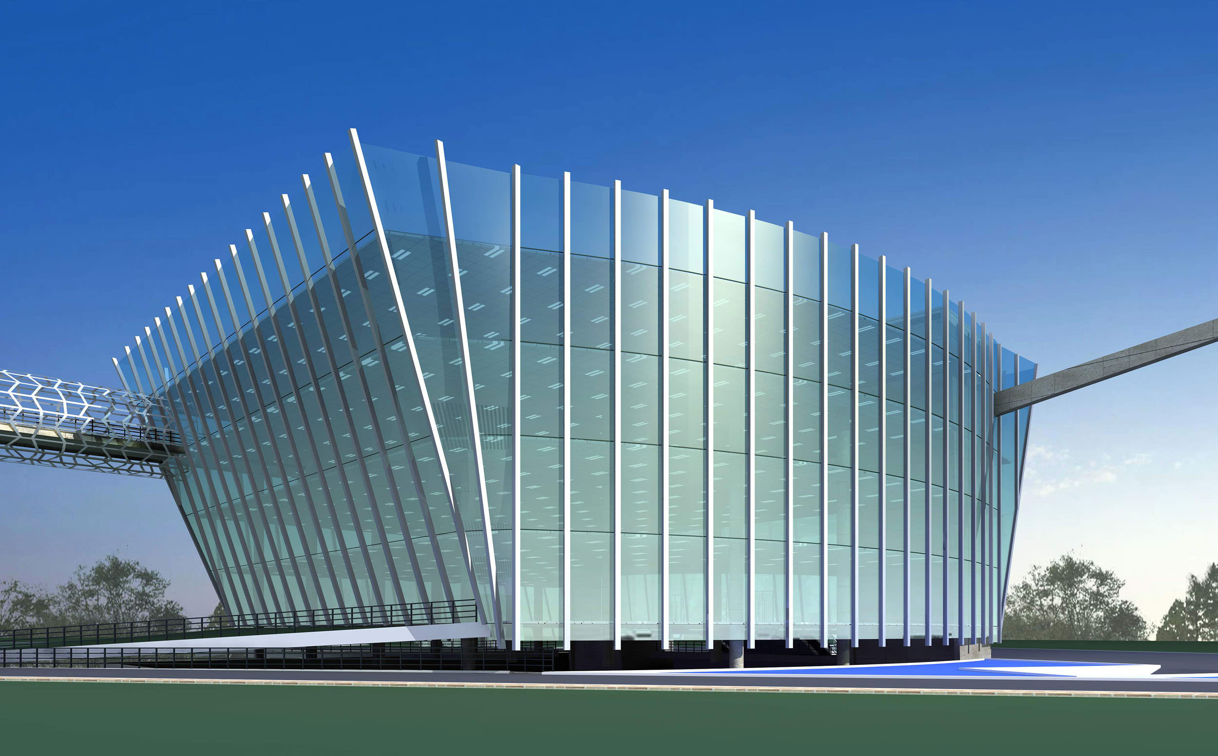 Office building with glass exterior 3d model max 3ds for 3d building creator