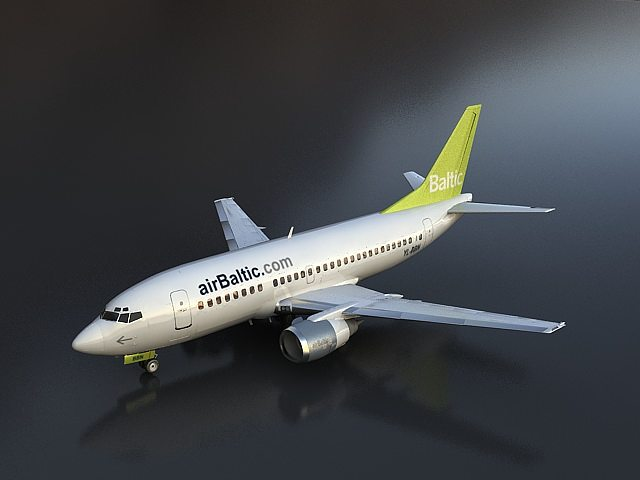 boeing 737 500 3d model max 1