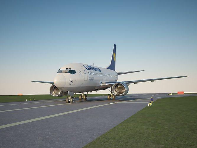 boeing 737 500 lufthansa 3d model max mat 1