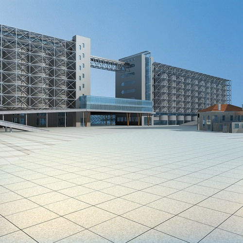 Building For Hotels With Swimming Pool 3D Model 3DS