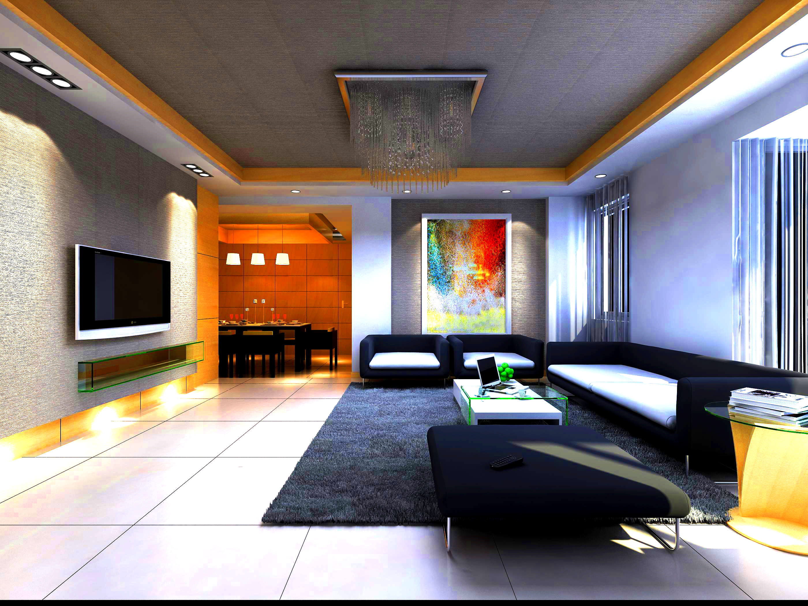 State of the art living space 3d model max for State of the art furniture