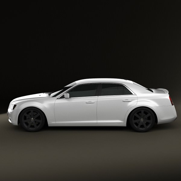 Chrysler 300 SRT8 2012 3D Model MAX OBJ 3DS FBX C4D LWO LW