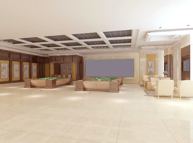 Exhibition Hall D Model : Spacious modern exhibition hall d model max