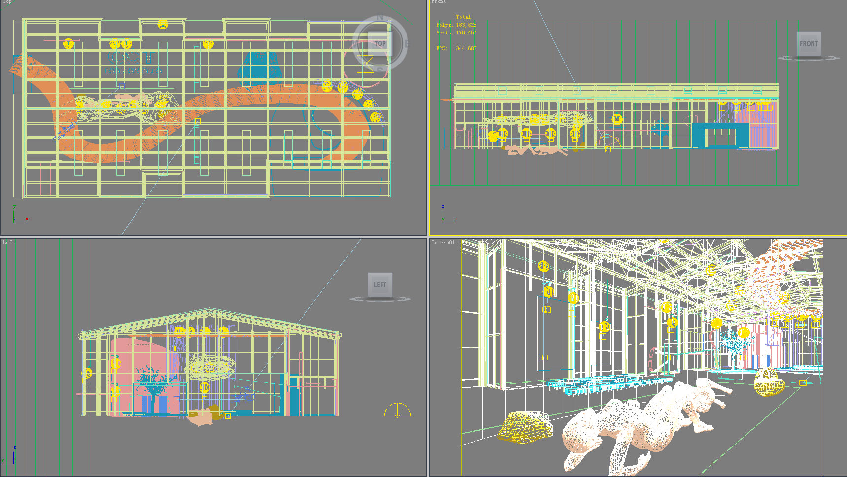 Exhibition Hall D Model : Artistic exhibition hall d model max cgtrader
