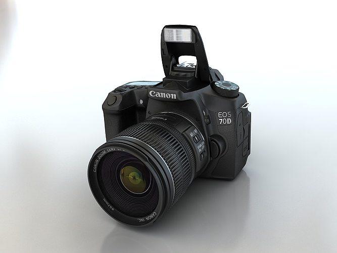 Canon 70d 3d model