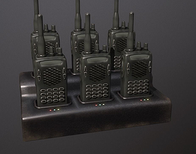 Walkie Talkie Charging Station 3D asset