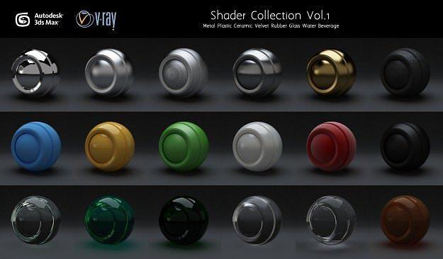material set vol 1 for vray 3d model max 1