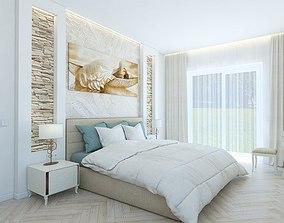 The cozy bedroom 3D