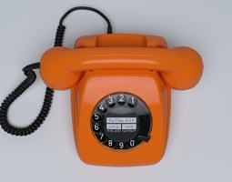 Retro Telephone FeTAp 611 3D model